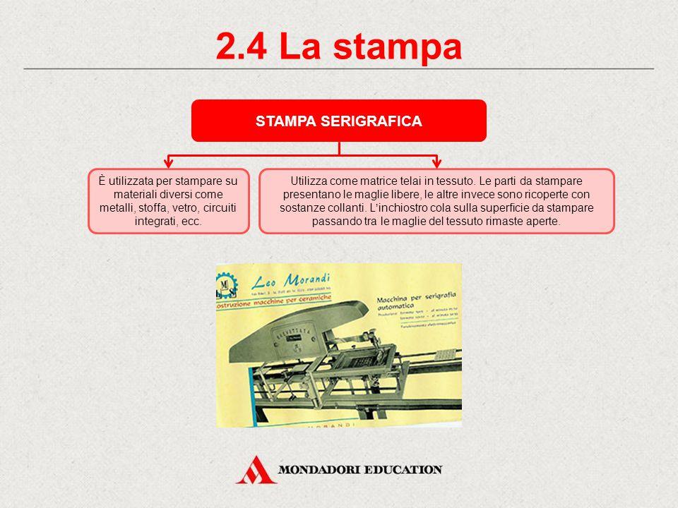 2.3 La stampa STAMPA TIPOGRAFICA Utilizza matrici in rilievo che un tempo venivano composte a mano, allineando i singoli caratteri tipografici.