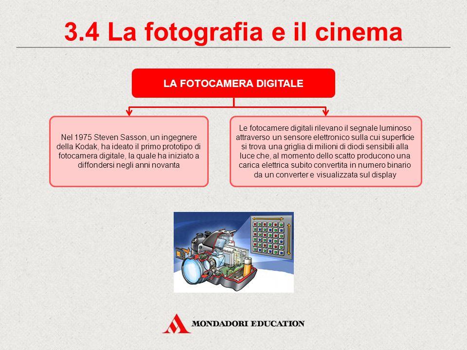 3.3 La fotografia e il cinema IL CINEMA La proiezione di immagini in movimento si basa sulla proprietà della nostra retina di conservare le immagini per circa 1/15 di secondo dopo che sono scomparse.