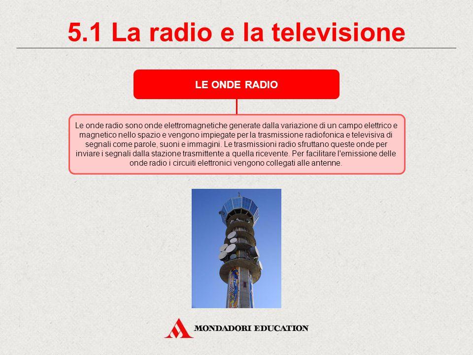 5. La radio e la televisione GUGLIELMO MARCONI Nel 1895 il fisico e inventore italiano Guglielmo Marconi riesce a trasmettere segnali via radio tra du