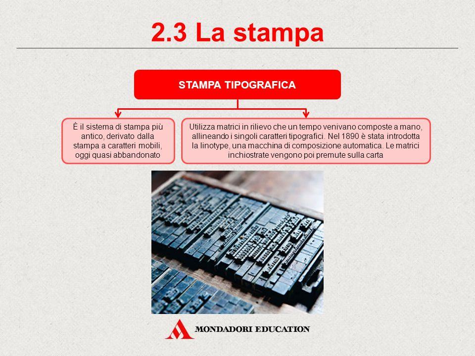 2.2 La stampa STAMPA A CARATTERI MOBILI I caratteri mobili sono dei parallelepipedi metallici che recano in rilievo e rovesciate le sagome delle lettere e degli altri segni grafici.