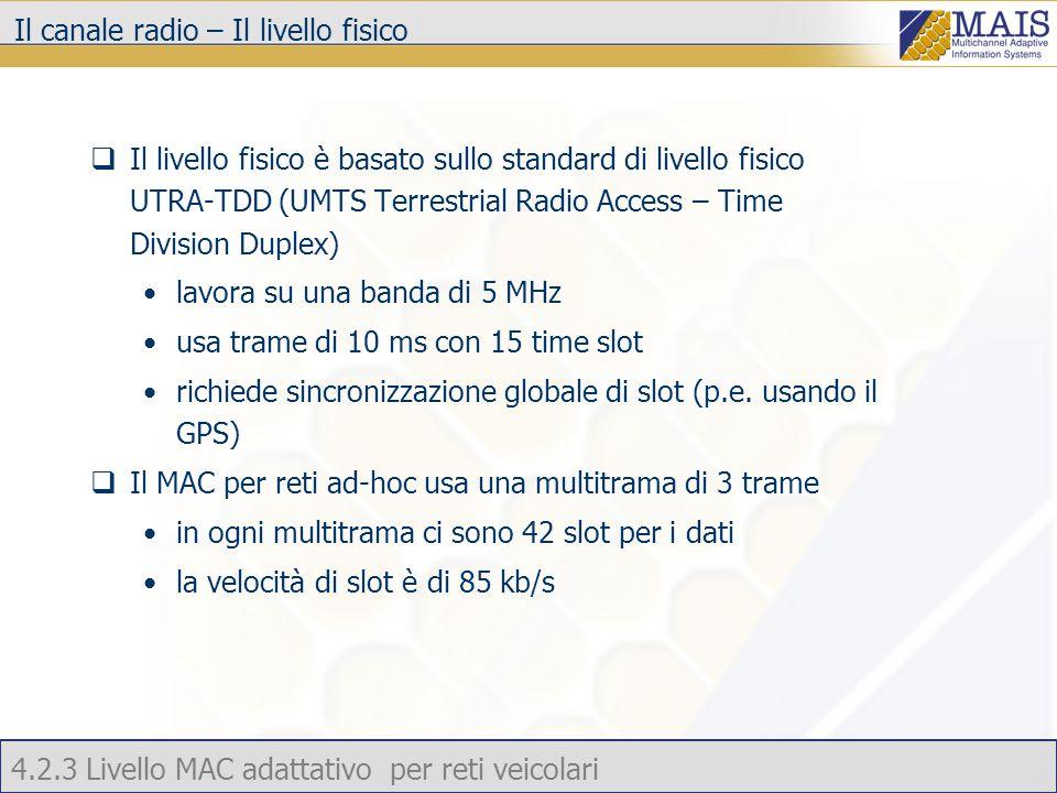 4.2.3 Livello MAC adattativo per reti veicolari Risultati delle simulazioni – Tempo medio per risolvere la collisione