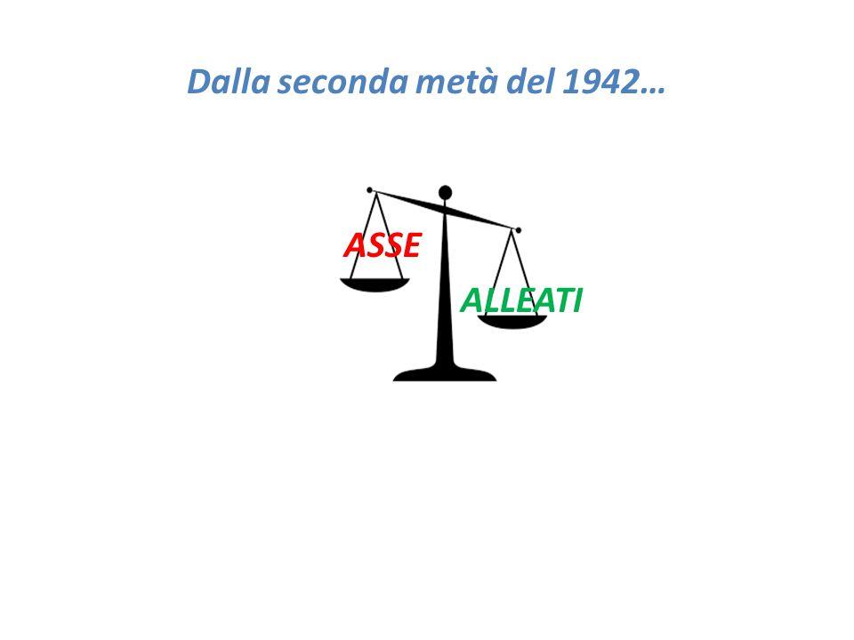Dalla seconda metà del 1942… ASSE ALLEATI
