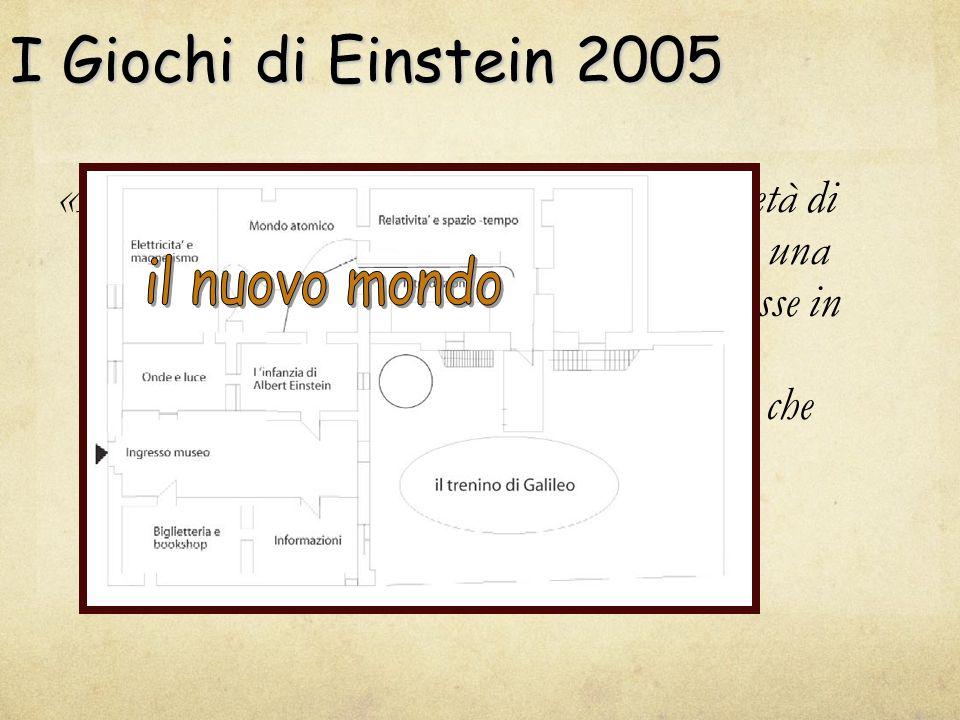 I Giochi di Einstein 2005 «Provai una meraviglia di questo genere all'età di 4 o 5 anni, quando mio padre mi mostrò una bussola.