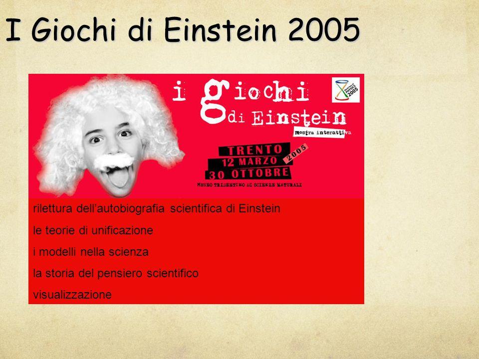 I Giochi di Einstein 2005 rilettura dell'autobiografia scientifica di Einstein le teorie di unificazione i modelli nella scienza la storia del pensiero scientifico visualizzazione
