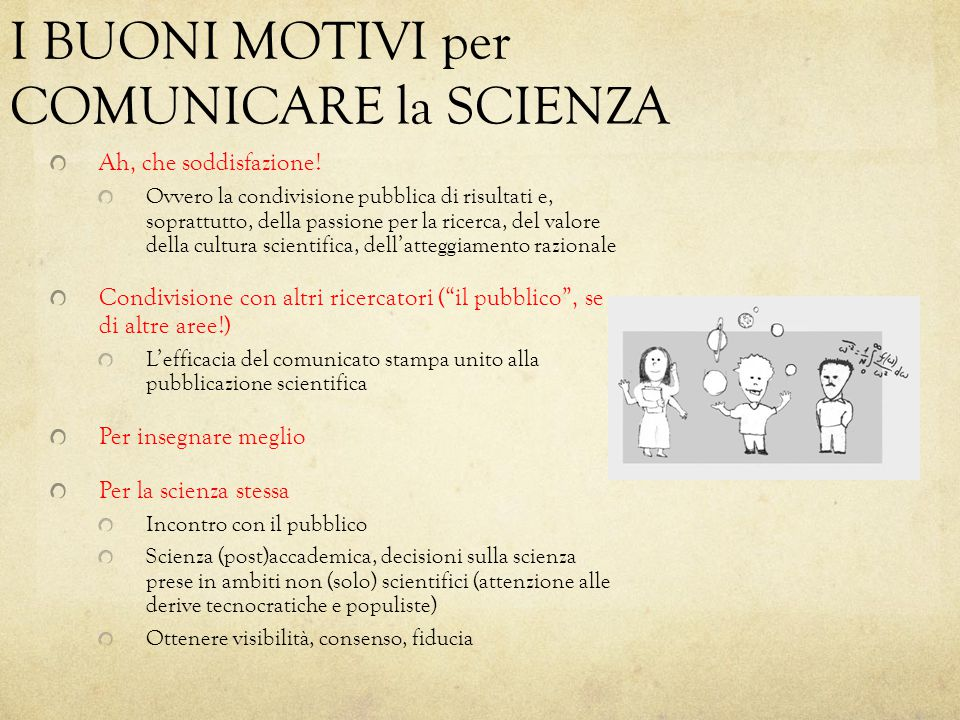 Il Mestiere del Comunicatore C.Sagan e la National Academy of Science, G.