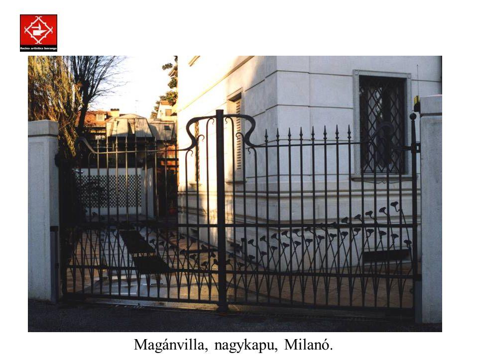 Prodotti assemblati a regola d'arte con la tecnica della chiodatura. Magánvilla, nagykapu, Padova.