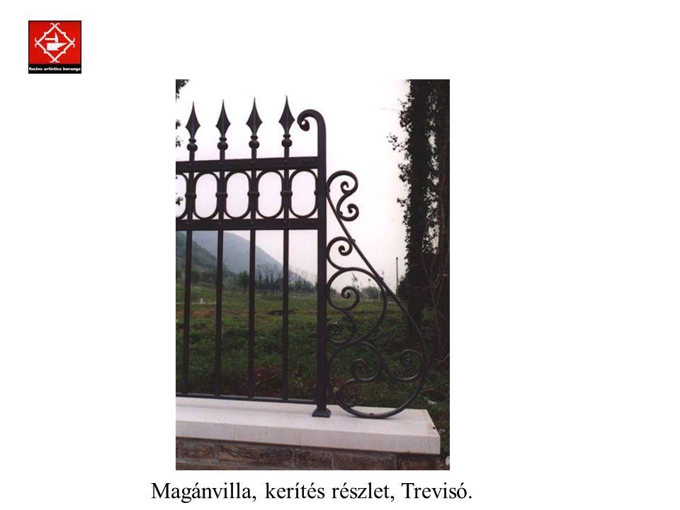 Prodotti assemblati a regola d'arte con la tecnica della chiodatura. Magánvilla, nagykapu, Trevisó.