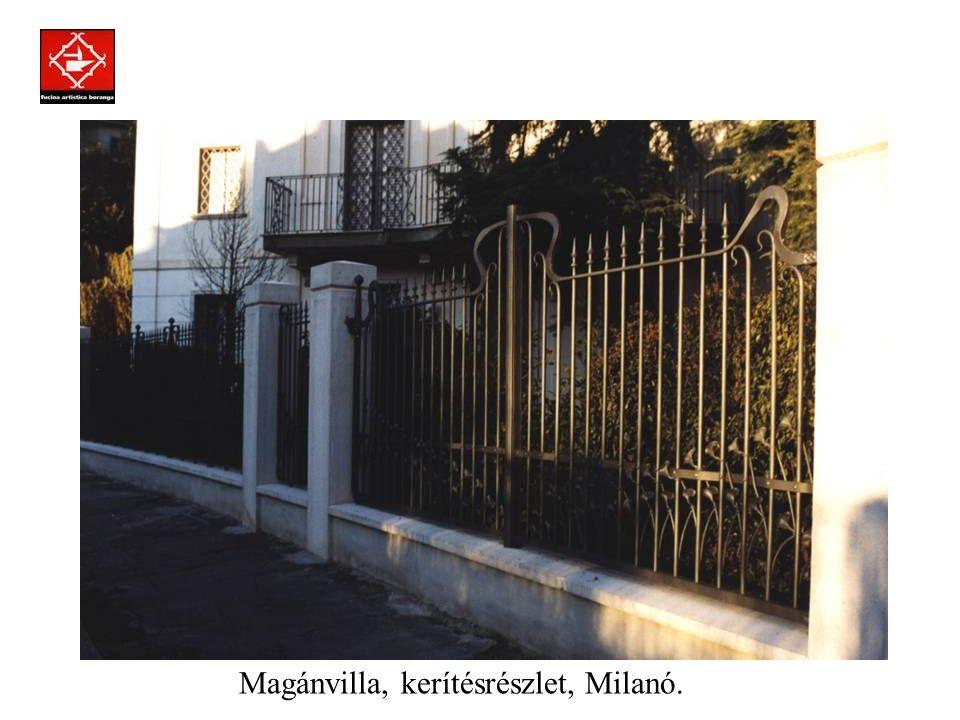 Prodotti assemblati a regola d'arte con la tecnica della chiodatura. Magánvilla, nagykapu, Milanó.