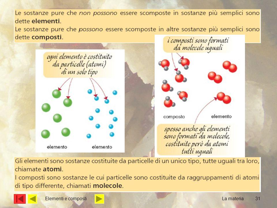 31 La materia Elementi e composti