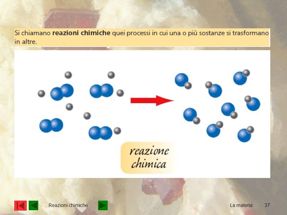 37 La materia Reazioni chimiche