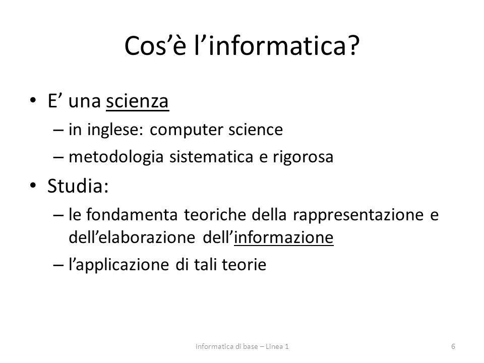 Cos'è l'informatica.