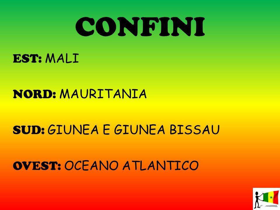 CONFINI EST: MALI NORD: MAURITANIA SUD: GIUNEA E GIUNEA BISSAU OVEST: OCEANO ATLANTICO