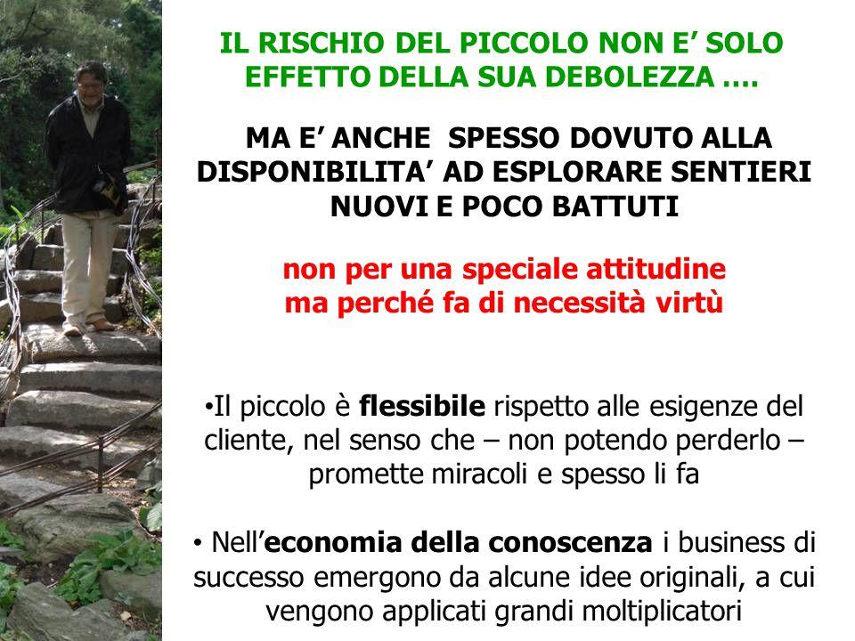 IL RISCHIO DEL PICCOLO NON E' SOLO EFFETTO DELLA SUA DEBOLEZZA ….