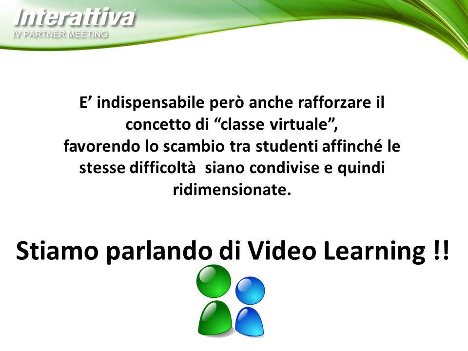 E' indispensabile però anche rafforzare il concetto di classe virtuale , favorendo lo scambio tra studenti affinché le stesse difficoltà siano condivise e quindi ridimensionate.