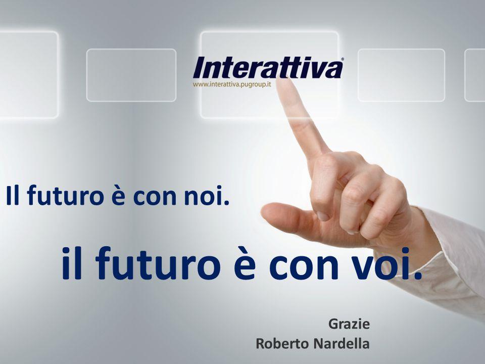 Il futuro è con noi. Grazie Roberto Nardella il futuro è con voi.