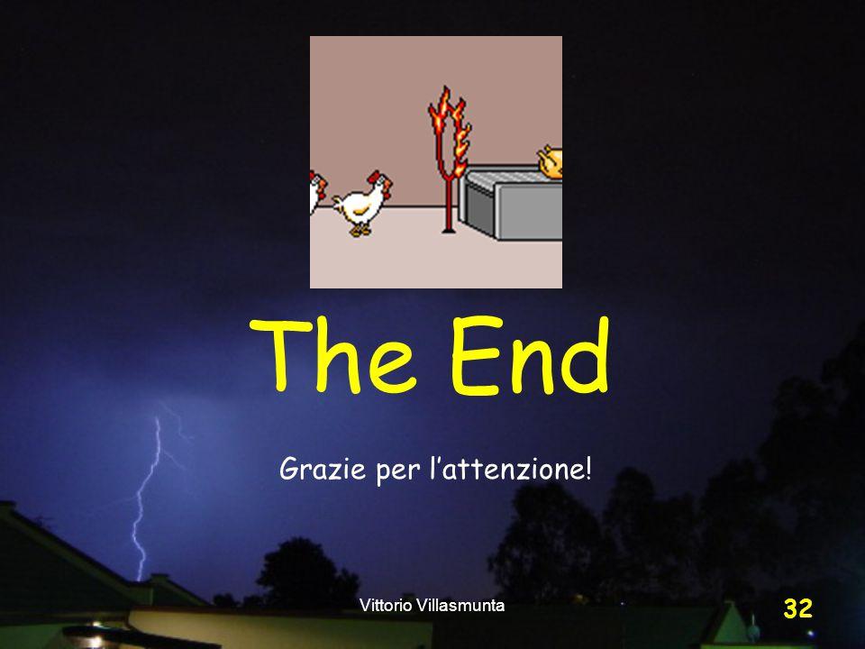 Vittorio Villasmunta 32 The End Grazie per l'attenzione!