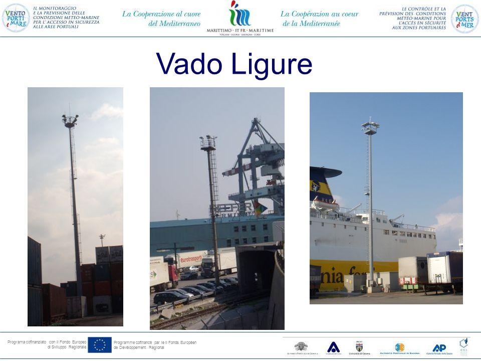 Programa cofinanziato con il Fondo Europeo di Sviluppo Regionale Programme cofinancé par le il Fonds Européen de Devéloppement Régional Vado Ligure