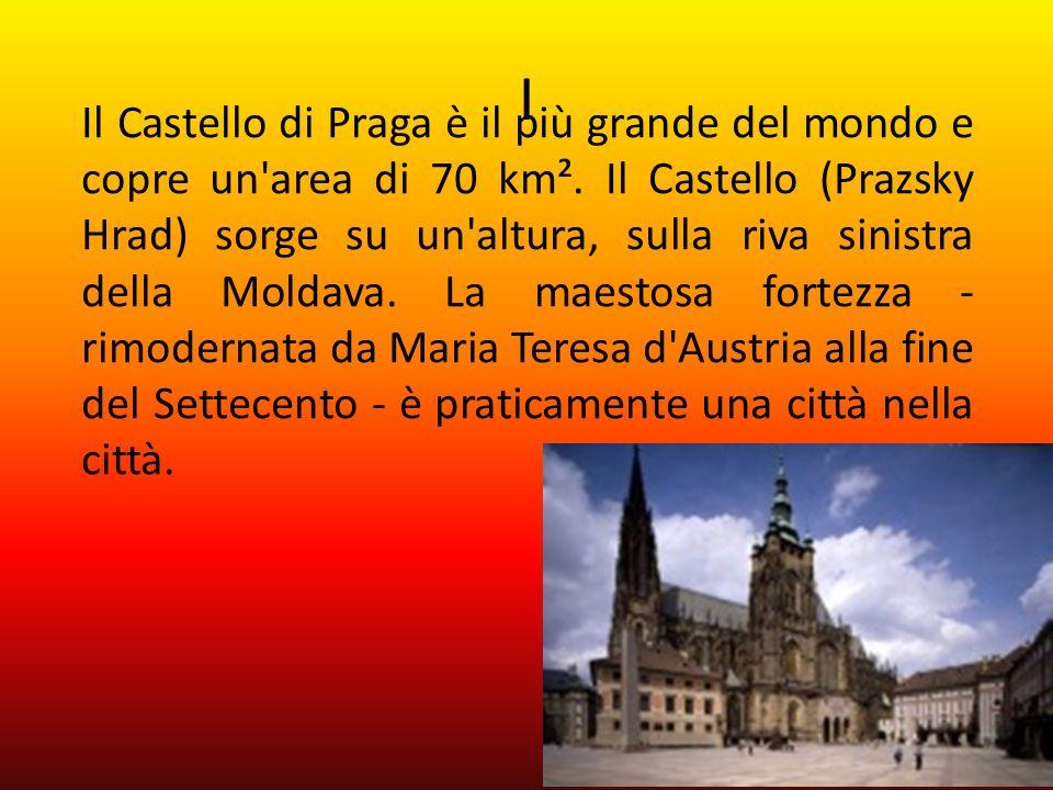 I Il Castello di Praga è il più grande del mondo e copre un area di 70 km².