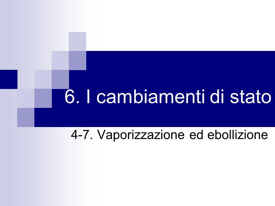 6. I cambiamenti di stato 4-7. Vaporizzazione ed ebollizione