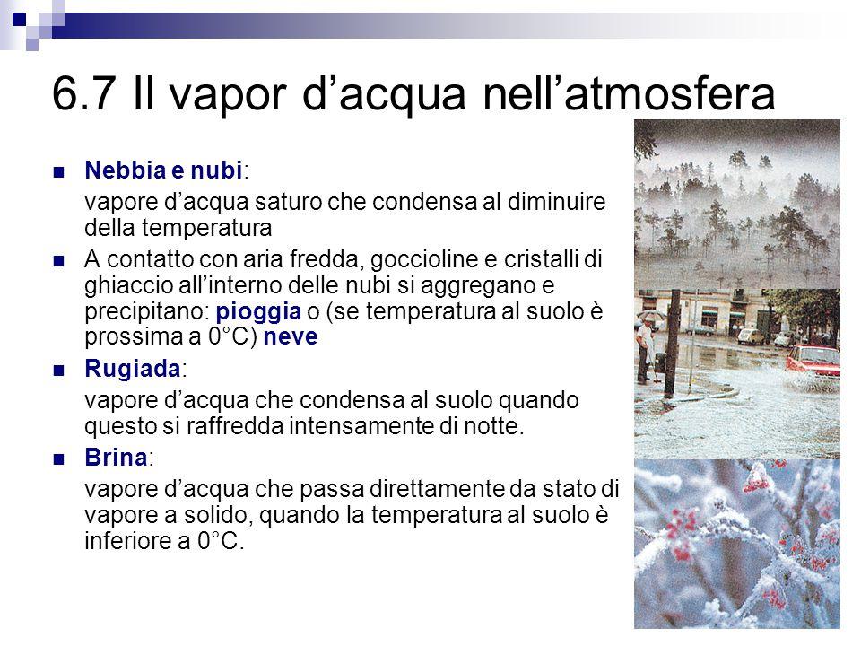 6.6 Condensazione Per condensare un vapore si può: 1. Comprimere a temperatura costante, oppure 2. Raffreddare a pressione costante Un gas (idrogeno,
