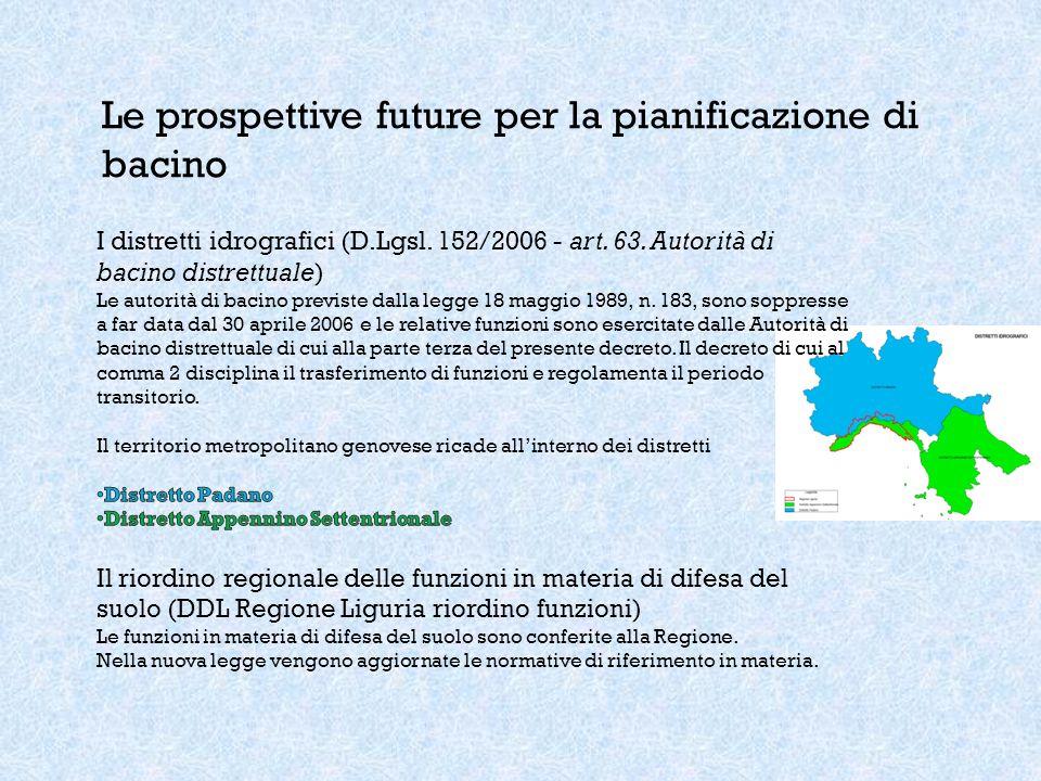 Le prospettive future per la pianificazione di bacino