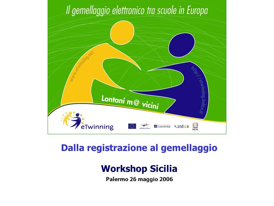 Dalla registrazione al gemellaggio Workshop Sicilia Palermo 26 maggio 2006