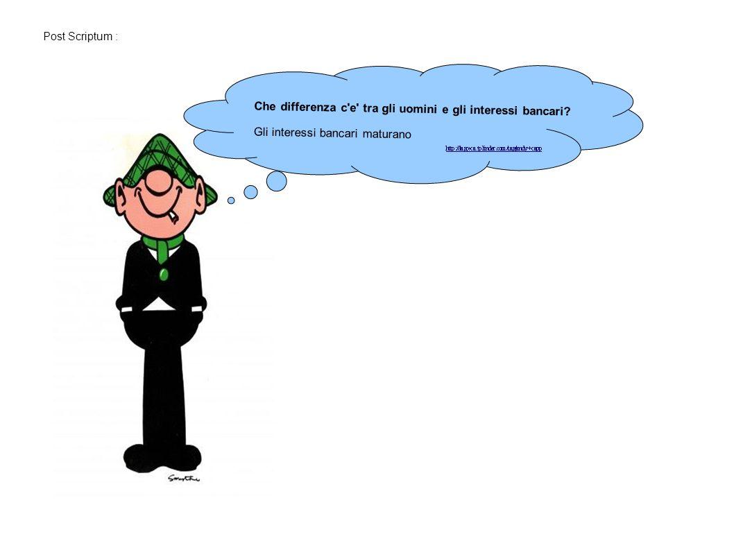 Che differenza c e tra gli uomini e gli interessi bancari.