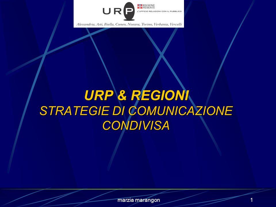 marzia marangon1 URP & REGIONI STRATEGIE DI COMUNICAZIONE CONDIVISA