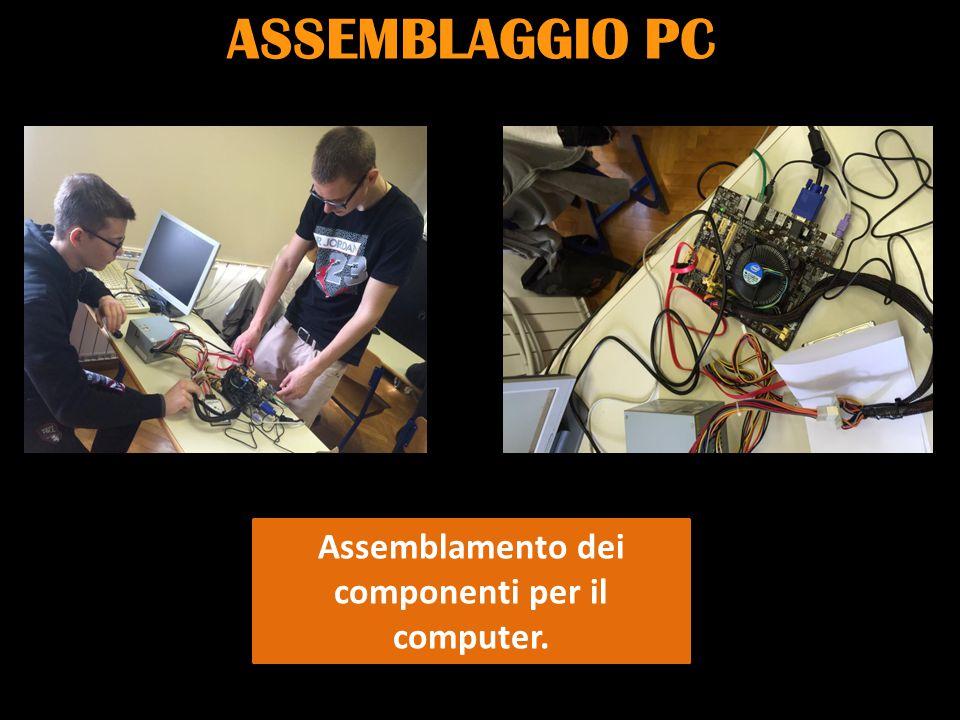 ASSEMBLAGGIO PC Assemblamento dei componenti per il computer.