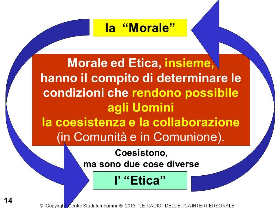 """l' """"Etica"""" la """"Morale"""" Morale ed Etica, insieme, hanno il compito di determinare le condizioni che rendono possibile agli Uomini la coesistenza e la c"""