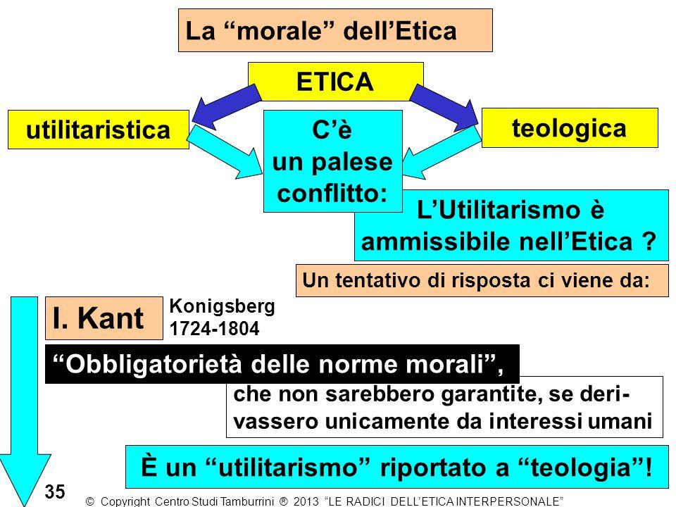 """La """"morale"""" dell'Etica utilitaristica Un tentativo di risposta ci viene da: teologica """"Obbligatorietà delle norme morali"""", L'Utilitarismo è ammissibil"""