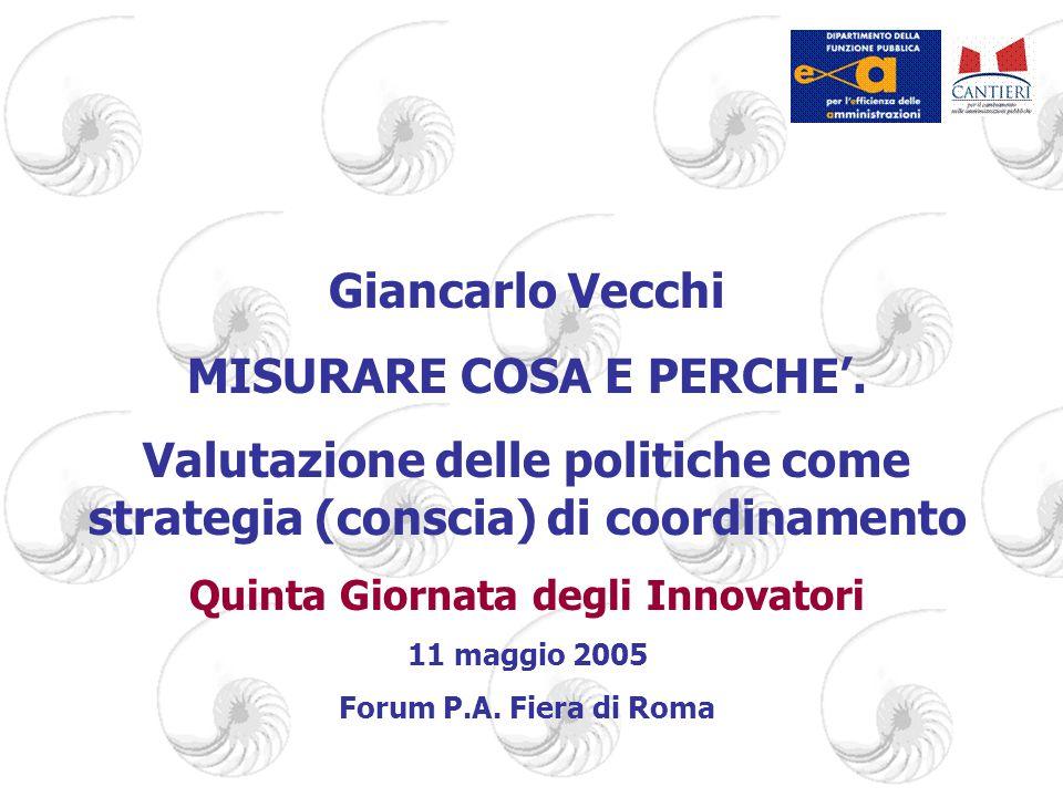 Giancarlo Vecchi MISURARE COSA E PERCHE'.