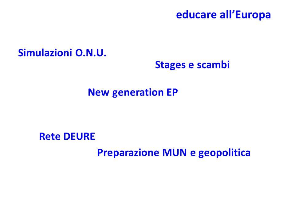 educare all'Europa Simulazioni O.N.U.