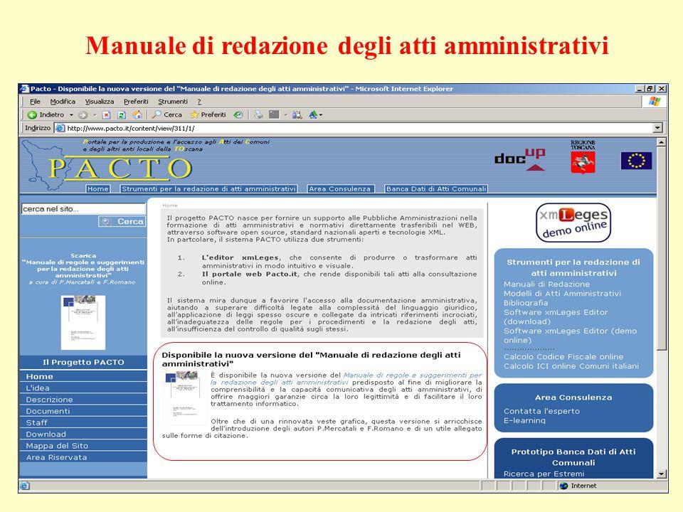 Manuale di redazione degli atti amministrativi
