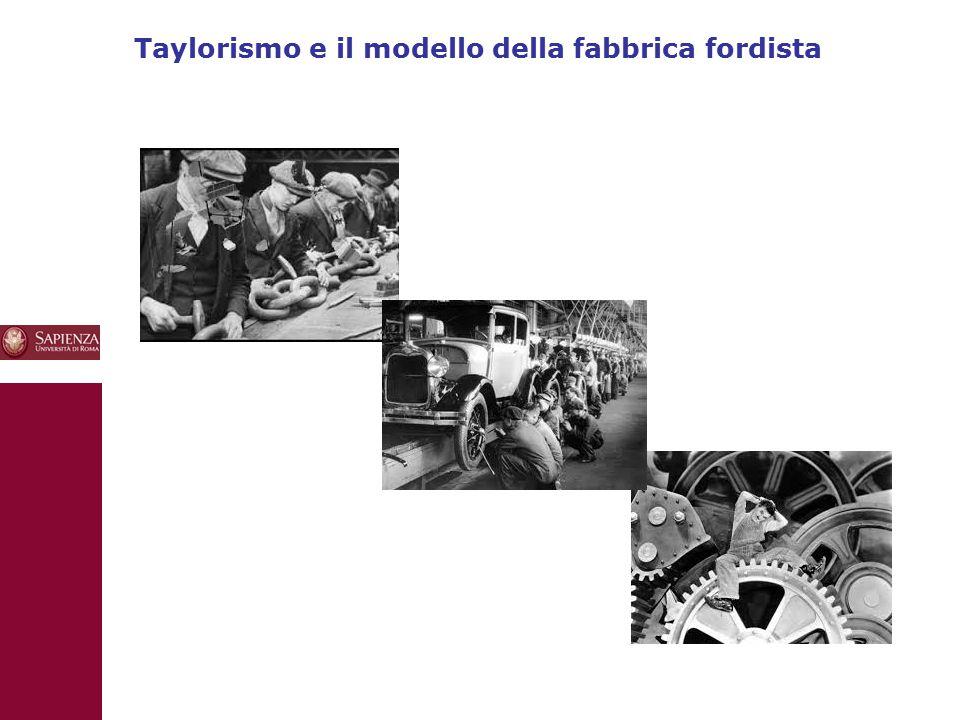 Taylorismo e il modello della fabbrica fordista 10