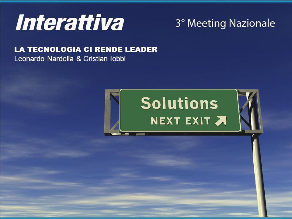LA TECNOLOGIA CI RENDE LEADER Leonardo Nardella & Cristian Iobbi