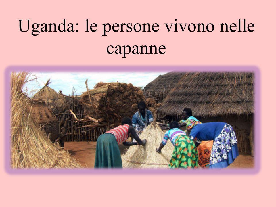 Uganda: le persone vivono nelle capanne