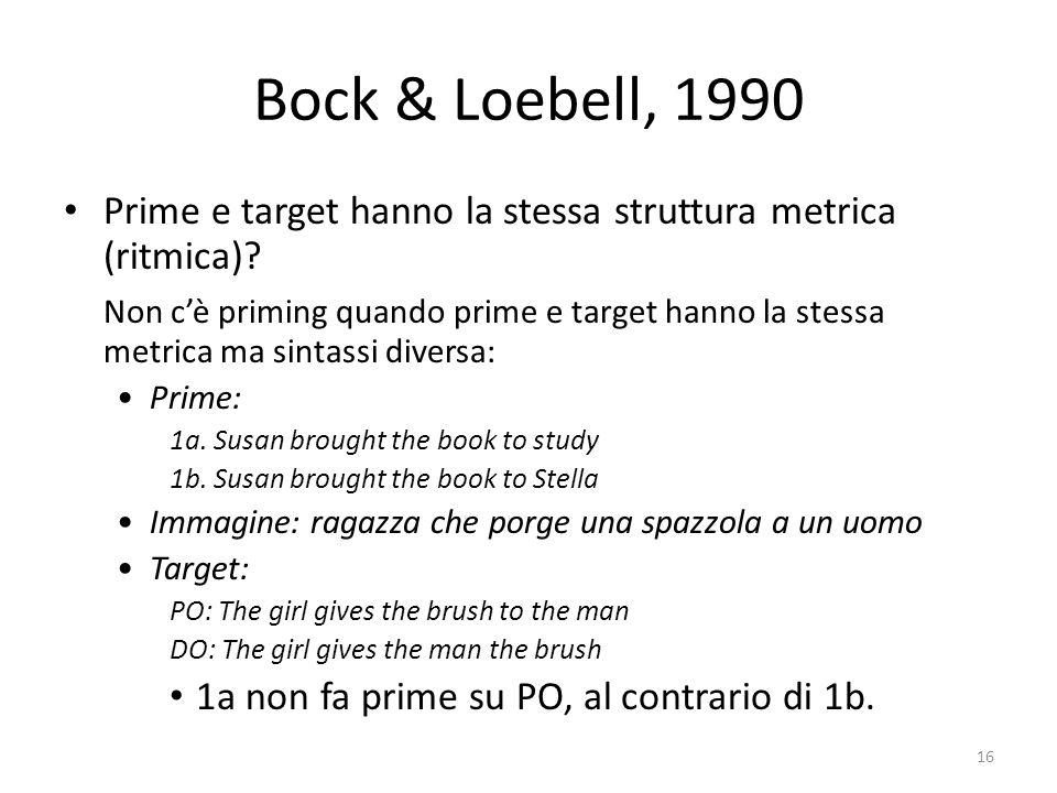 Prime e target hanno la stessa struttura metrica (ritmica).
