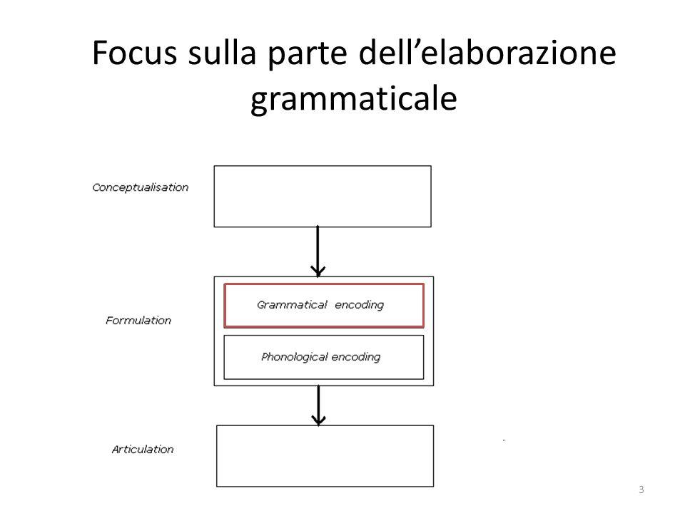3 Focus sulla parte dell'elaborazione grammaticale