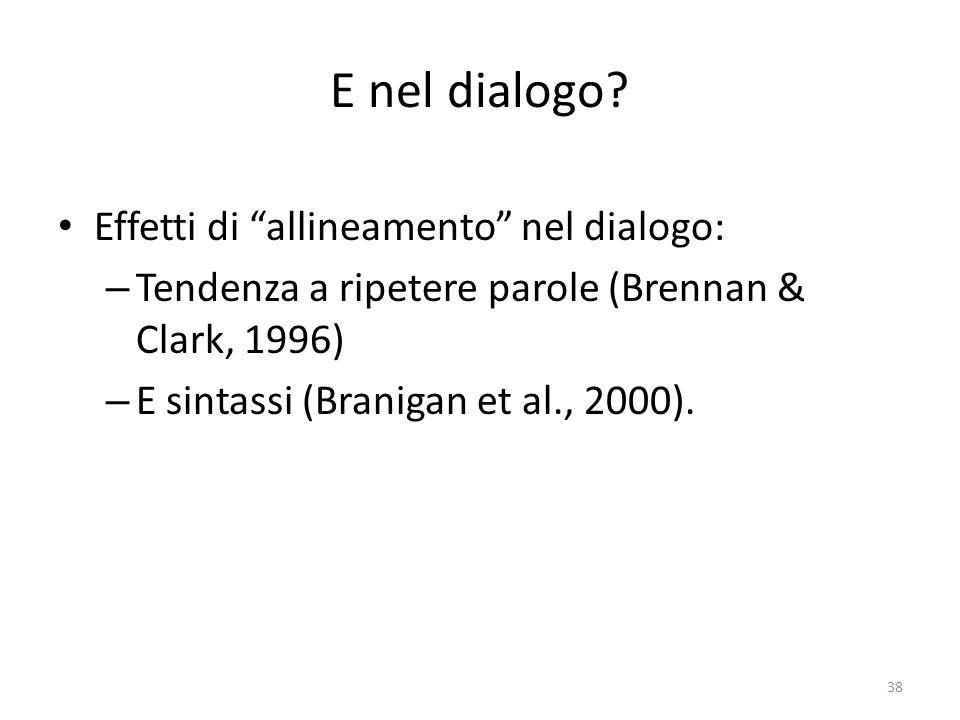 E nel dialogo.