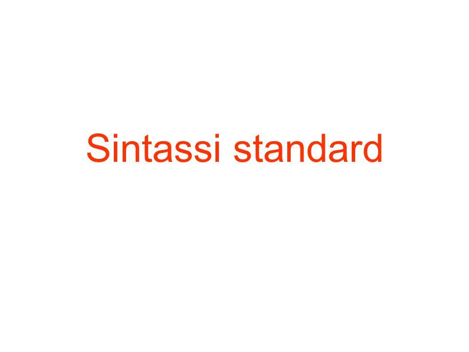 Sintassi standard