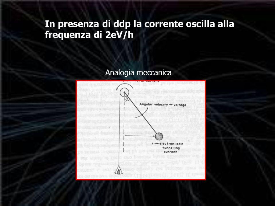In presenza di ddp la corrente oscilla alla frequenza di 2eV/h Analogia meccanica