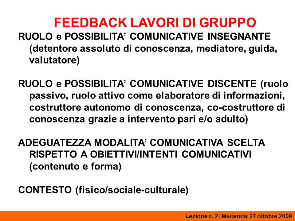 IL MODELLO DI FLANDERS Lezione 2: Macerata, 3 novembre 2008Lezione n.