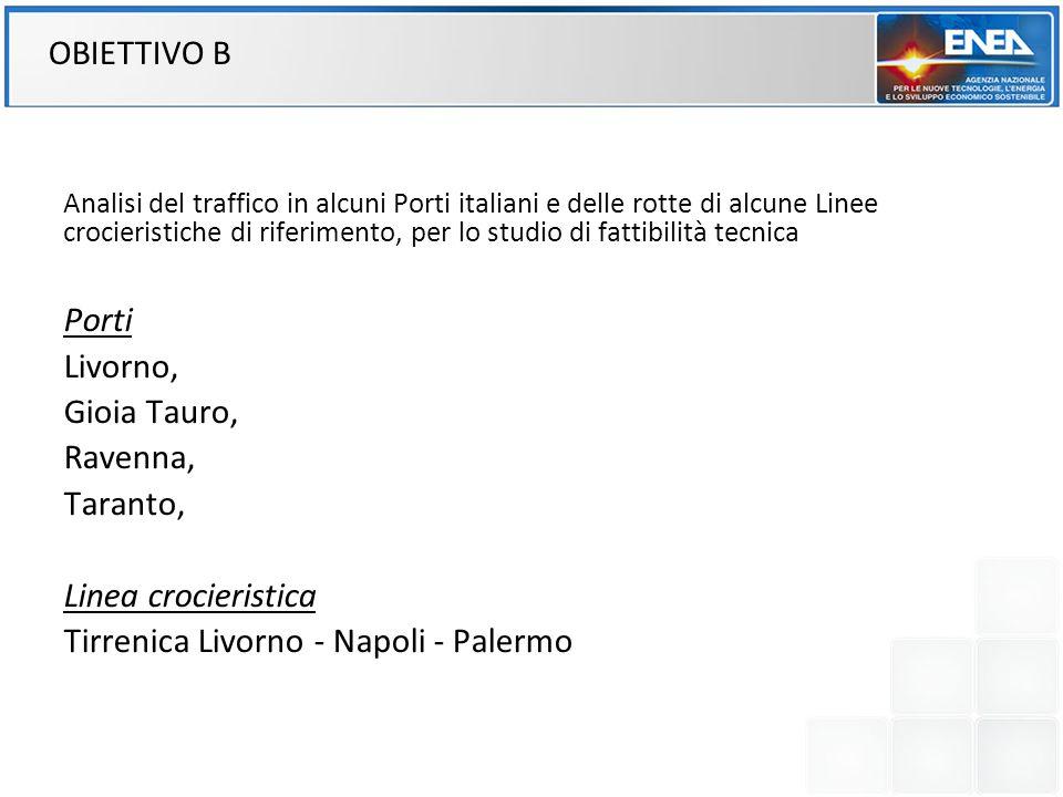 Analisi del traffico in alcuni Porti italiani e delle rotte di alcune Linee crocieristiche di riferimento, per lo studio di fattibilità tecnica Porti