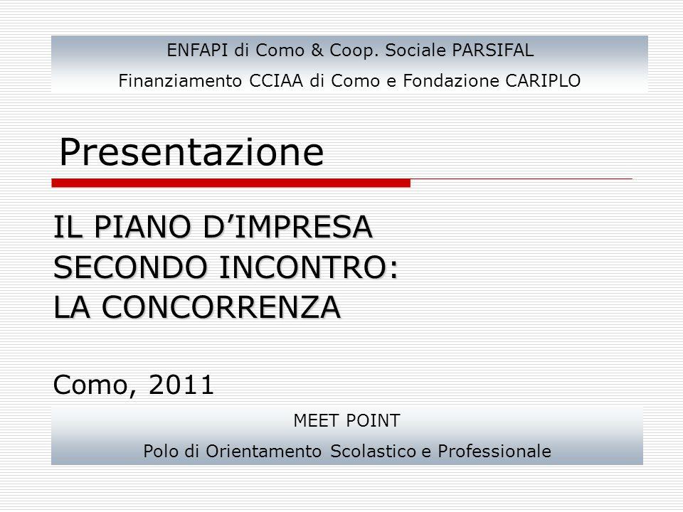 Presentazione IL PIANO D'IMPRESA SECONDO INCONTRO: LA CONCORRENZA Como, 2011 ENFAPI di Como & Coop.