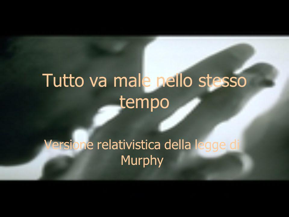 Tutto va male nello stesso tempo Versione relativistica della legge di Murphy