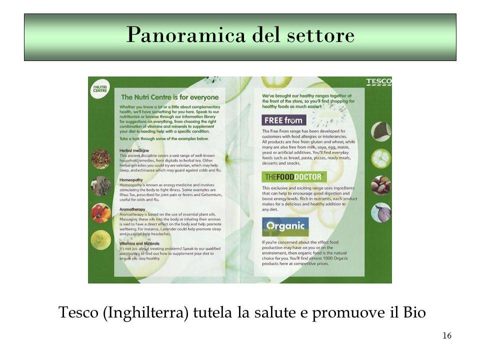 16 Tesco (Inghilterra) tutela la salute e promuove il Bio Panoramica del settore