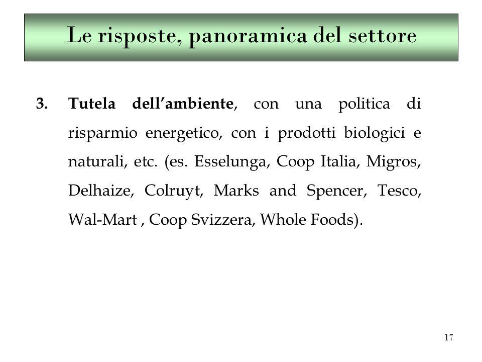 17 3.Tutela dell'ambiente, con una politica di risparmio energetico, con i prodotti biologici e naturali, etc.