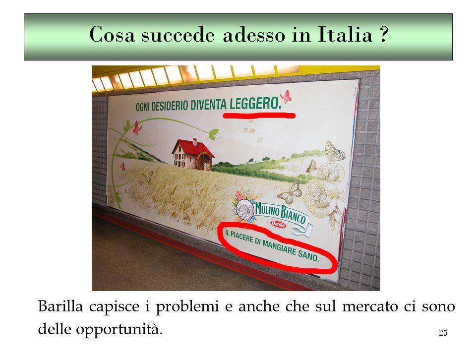 25 Cosa succede adesso in Italia .