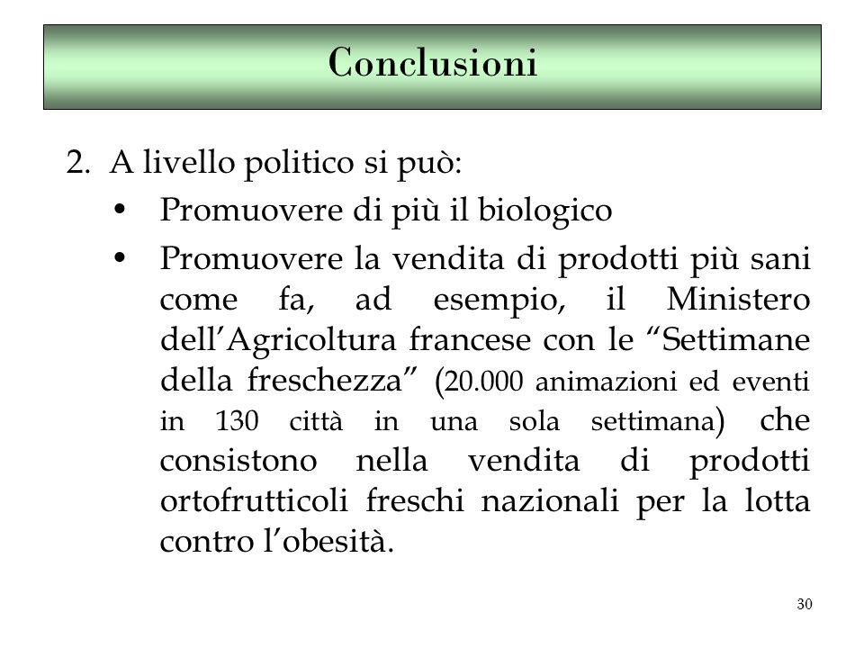 30 Conclusioni 2.